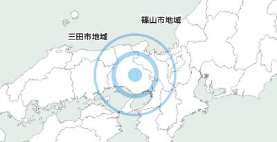 三田市と篠山市